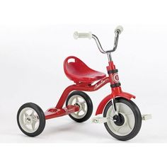 The RED Italtrike Classic Super Touring Tricycle is made in Italy. It is a fab pressie for little boys or girls! We love it! #Number1Trike #FavProduct