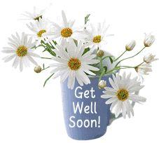 Get Well Glitter Grahics   Glitter Text » Get Well Soon » Get Well Soon~Daisies