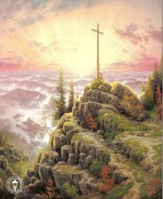 Thomas Kinkade: Sunrise..beautiful. He is greatly missed...such an amazing gift he was!