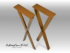 """35"""" Slim IKSI PLUS 60.20 Steel Table Legs, Height 26"""" - 36"""" SET(2)"""