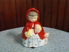 Vintage Napco Little Red Riding Hood Planter 1956
