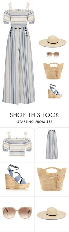 """""""chic at the beach"""" by candynena228 ❤ liked on Polyvore featuring Lemlem, Yves Saint Laurent, Heidi Klein and Tom Ford"""