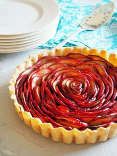 How To Make A Rose Apple Pie - with easy to follow directions and step by step photos! recipe by ComfortablyDomestic.com