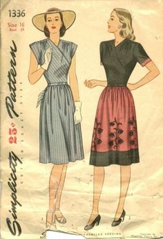 Late 1940s Wrap Dress PatternSense & Sensibility Patterns