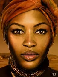 Image result for Kate Zambrano {figurative art female head african-american black woman face portrait drawing}