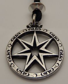 Faery Star Elven Septagram FAE Magick Pendant Necklace - Wicca fairy star Jewelry