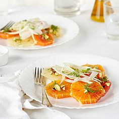 Citrus-fennel salad with pistachios and rose water-cardamom dressing