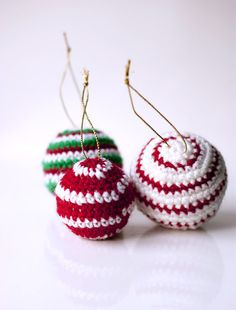 crochet Christmas ornament baubles