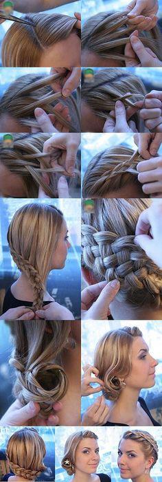five strand french braid