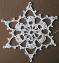 big crocheted snowflake