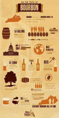 Bourbon Infographic Poster // Can you find the mistake! Only a true bourbon lover will!