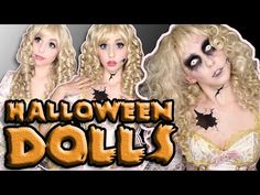 Doll's are perfect for looking pretty or looking pretty freaky this Halloween, so try out one of these 3 Doll Makeup looks! Halloween Doll, Halloween 2015, Creative Halloween Costumes, Cool Costumes, Halloween Tricks, Halloween Ideas, Costume Ideas, Halloween Party, Party Makeup Looks