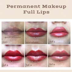 Semi permanent makeup💄💋❤ days after completion of the process. Lip Color Tattoo, Permanent Eyeliner, Semi Permanent, Competition Makeup, Laser Skin Care, Facial Tattoos, Lip Shapes, Cosmetic Tattoo, Full Lips