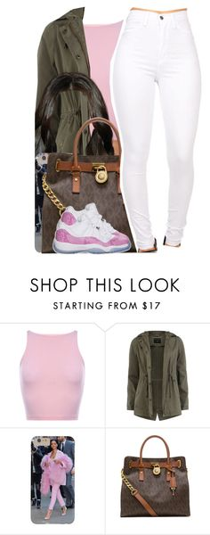 """""""Usher / I Don't Mind"""" by nasiaamiraaa ❤ liked on Polyvore featuring Dorothy Perkins, MICHAEL Michael Kors, Retrò and NanaOutfits"""