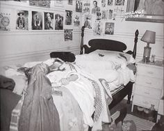 Bedroom of 16-year-old Nancy Clutter, where she was murdered on November 15, 1959.