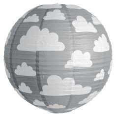 Färg & form, Moln, Riisi valaisin, 50 cm, Harmaa netistä. Lekmer.fi - verkkokaupasta