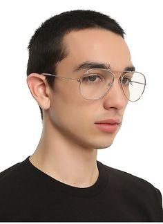 c7993aa8996 Hot Topic   Clear Lens Aviator Sunglasses Latest Sunglasses