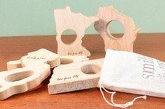 Personalised Africa Wood Teether - PetitePeople