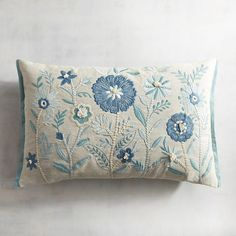 Embroidered Pillows: Embellished Throw Pillows - My CMS Sewing Pillows, Diy Pillows, Decorative Pillows, Throw Pillows, Crewel Embroidery, Hand Embroidery Designs, Cross Stitch Embroidery, Diy Pillow Covers, Cushion Covers