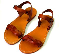 Suitable for Women. European sizes from 35 to Color - Honey -brown. Jesus Sandals, Honey Brown, Leather Sandals, First Love, Fish, My Style, Casual, Clothing, How To Wear