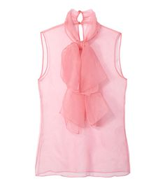 Gucci Pink Organza Bow Detail Blouse