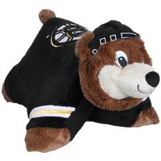 NHL Boston Bruins Pillow Pet by Fabrique Innovations. $24.06. Snuggle up and get cozy with an NHL® Pillow Pet™! This adorable plush animal easily transforms into a pillow. It's super soft all over and features your #1 NHL® team's graphics.. Save 20% Off!