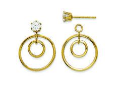 Buccellati Hawaii Onyx Circle Earrings in 18K Gold Tw58YY