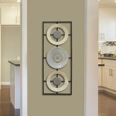 Stratton Home Decor Stamped Circle Panel Metal Wall Art