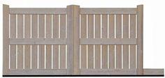 *** All Access : Portails à battants en bois traité haute teméprature (THT) ***