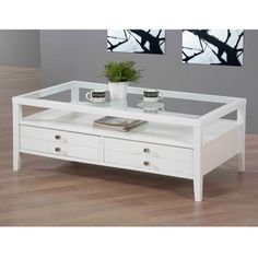 Overstock Com Aristo Gloss White Coffee Table This Beautiful White Coffee Table