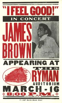 The great James Brown at the historic Ryman Auditorium, Nashville.....