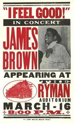 The great James Brown at the historic Ryman Auditorium, Nashville.....