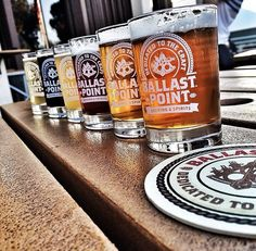 Ballast Point brewed and crafted in San Diego California   Hand Pick Your Tasters