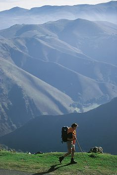 The Pyrenees - around St Jean De Pied De Port. Camino de Santiago