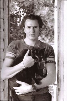 John Taylor, Duran Duran; I relate to him in many ways, and his love for all things Bowie inspired me from a young age onwards. He continues to inspire! I had a cat just like this, too.