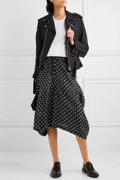 Comme des Garçons Comme des Garçons - Polka-dot Taffeta Skirt - Black -