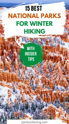 The best national parks for winter hiking. The best winter hikes in US. Use this guide to go hiking in winter. Includes warm and cold weather hikes. Take a winter national parks trip. Best national parks to visit in winter | Best winter hikes in Colorado | Best winter hikes in Washington | Best winter hikes in Utah | Best winter hikes in California | USA national parks | USA winter travel | Best national parks in winter American National Parks, National Parks Map, National Park Posters, Winter Hiking, Winter Travel, Travel Guides, Travel Tips, Hiking Usa, Best Winter Vacations