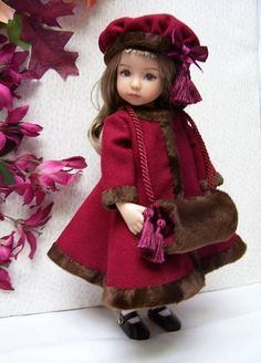 "PDF Pattern for Effner Little Darling  Coat, Hat, Muff and Dress 13"" Doll"