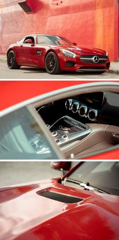 Red stunner - from every angle.  Photos by Steven Sampang (www.stevensampang.com) for #MBphotopass via @mercedesbenzusa  [Mercedes-AMG GT S | Fuel consumption combined: 9.6-9.4 l/100km | combined CO₂ emissions: 224-219 g/km | http://mb4.me/efficiency_statement]