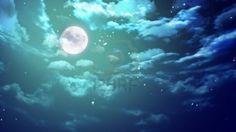 la belleza de la luna en el cielo nocturno Foto de archivo - 12403525