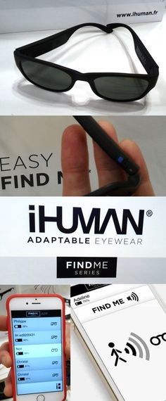 Lose your glasses? No problem for the iHuman FindMe series of Bluetooth-enabled smart eyeglasses. Fire up the iHuman FindMe smartphone app and it can cause the glasses to buzz. If you're too far to hear it, a warmer/colder meter will rise or fall as you get closer or farther to the glasses. Lose your phone? No problem. Push a tiny blue button on the glasses and your phone will ring. Spotted at the 2016 @visionexpo in New York. Prices start at about $220. #VisionExpo