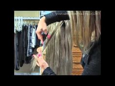 How I Layer My Clip In Hair Extensions - YouTube