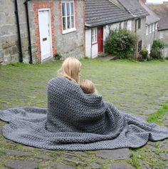 chunky hand crochet blanket by the novelty cushion company | notonthehighstreet.com