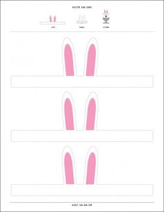 free easter bunny ears printable. For more Easter craft pins see Clever Classroom's Easter Art and Craft board; http://pinterest.com/cleverclassroom/easter-art-and-craft/