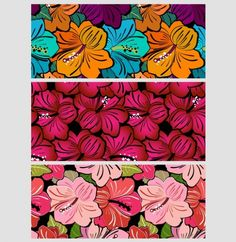 6 Very Flowery Hibiscus Seamless Patterns Set - http://www.welovesolo.com/6-very-flowery-hibiscus-seamless-patterns-set/