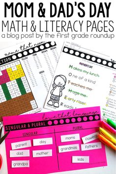 Are you looking for MOTHER'S DAY AND FATHER'S DAY themed first grade skill practice and reading passages for morning work, independent practice or test prep? This print and teach resource is perfect for all these needs, but appropriate for 1st graders too!