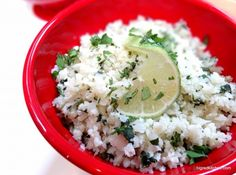 """Cilantro Lime Caulflower """"rice"""" - made this last night and couldn't BELIEVE how tasty it is.  We'll be adding caulflower to our regular dinner menu!"""