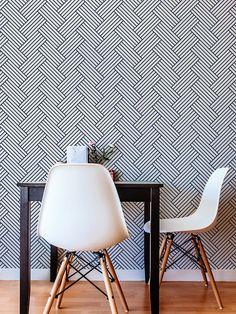 Chevrons Wallpaper / amovible autocollant papier peint /