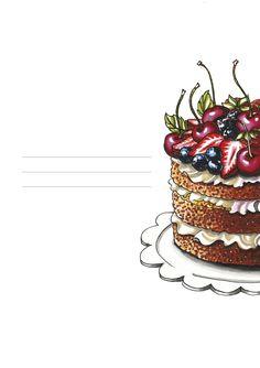 Cake Drawing, Food Drawing, Cake Background, Cupcake Painting, Cupcake Logo, Cake Logo Design, Watercolor Food, Food Illustrations, Menu Illustration