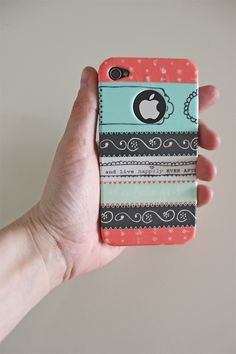 Washi tape photo case DIY. Could Easily Do This with My Samsung!